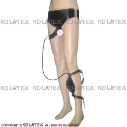 Zwarte Latex Slip Met Penis Schede Condoom Pissen Tas Rubber Ondergoed Shorts DK-0012