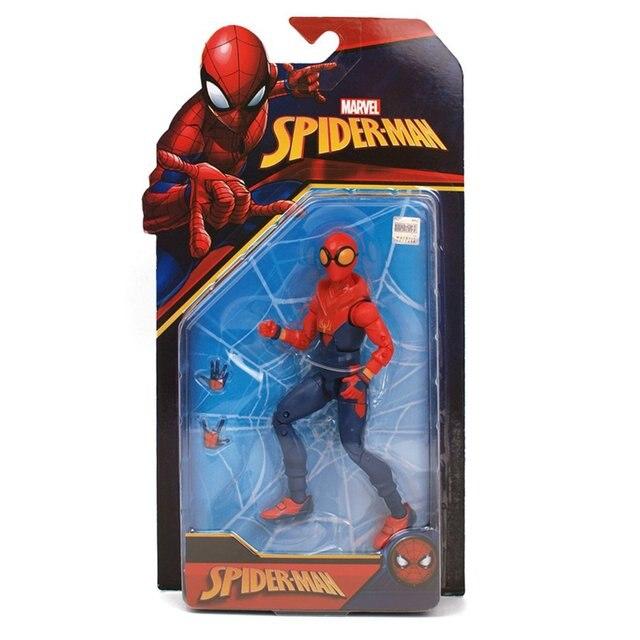 7 polegadas Movable PVC Action Figure Model Collection Toy Decoração Articulações Móveis Brinquedos Super-heróis Brinquedos Modelo