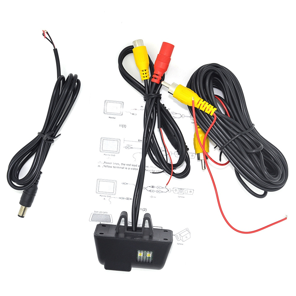 170 Degree Hd Car Reversing Rear View Backup License Plate Backup Camera For Ford Transit Connect