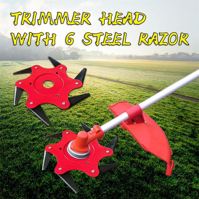1pc Garden Power Tools 6t Blade Manganese Steel Mower Grass Trimmer Head Brush Cutter Blade Garden Lawn Machine Accessories New Grass Trimmer