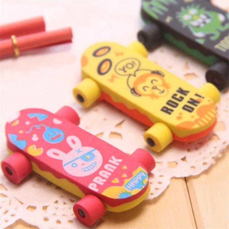 1 Pc Niedlichen Kaninchen Radiergummis Kawaii Skateboard Radiergummis Für Kinder Mädchen Geschenk Student Büro Korrektur Werkzeuge Neuheit Artikel Schreibwaren Neueste Technik