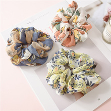 1Pcs Elastic Hair Bands Scrunchies Ponytail Holder Rope Ties Leopard Floral Ring Dot Headwear Fashion Horsetail