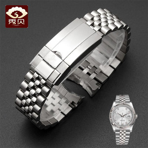 Image 2 - New High quality Stainless Steel Watchband Gold Silver Bracelet with Oyster Buckle 20mm for RX Perpetual Day Date Datejust Watch