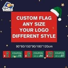 3x5FT пользовательский флаг 90X150 см 100D полиэстер День рождения Свадьба Баннер вечерние флаг ваш логотип Рождество настроить ЛГБТ флаг