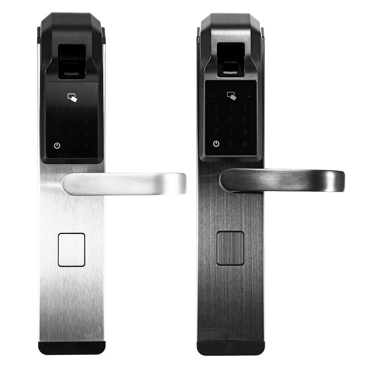 Serrure de porte intelligente électronique 4 voies accès par mot de passe d'empreintes digitales serrure antivol système de contrôle d'accès de sécurité bureau à domicile
