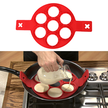 Nonstick Eggs Mold Pancakes Cheese Egg Ring Maker Silicone Cake Mould Pancake Porous