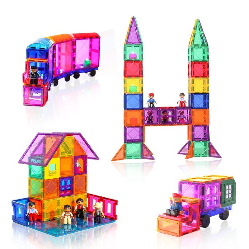 New Mini Design 76 - 166 Pieces Of Model Building And Plastic Construction Toy Magnet Children Blocks  Toys