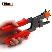 FINDER 6 Holes Multifunctional Belt Hole Puncher Leather Hole Punch For Leather Belts Cards Paper Fabric Crimping Tool Pliers leather hole punch revolving punch pliers kit with 6 hole sizes for belt