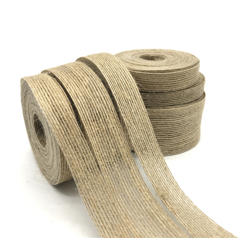 5yards 6mm 38mm Natural Vintage Jute Burlap Ribbon Diy