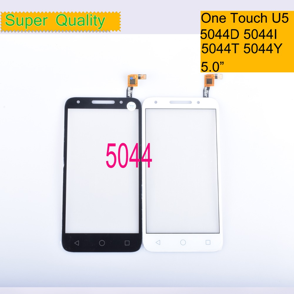 10Pcs/lot For <font><b>Alcatel</b></font> One Touch U5 5044D 5044I <font><b>5044T</b></font> 5044Y OT5044 5044R Touch Screen Panel Sensor Digitizer Front LCD Glass image