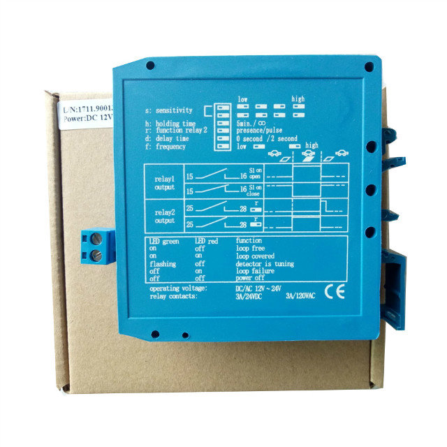 DC12/24V Inductive Loop Detector For Boom Barrier Gate