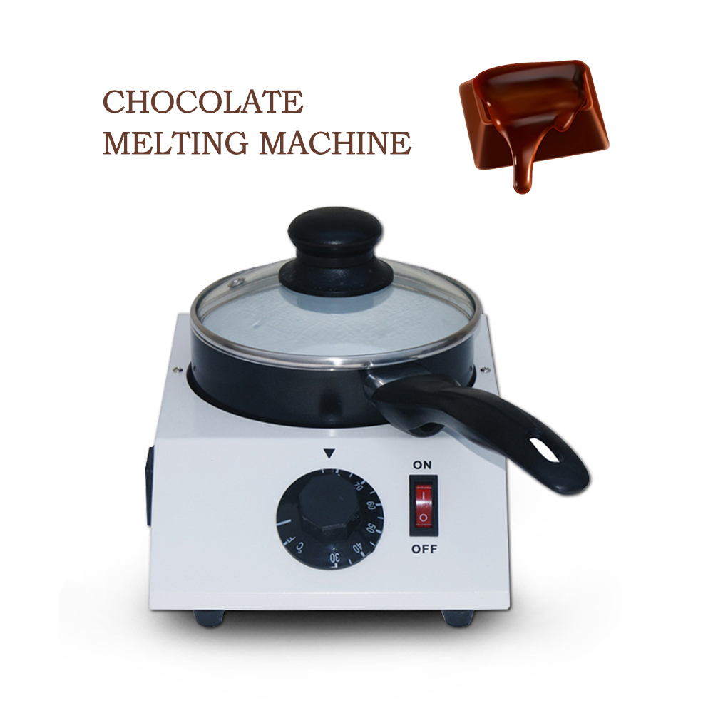 ITOP 40W Mini Electric Chocolate Cheese Melting Machine Ceramic Non-Stick Pot Tempering Cylinder Melter Pan (1 Melting Pot) image
