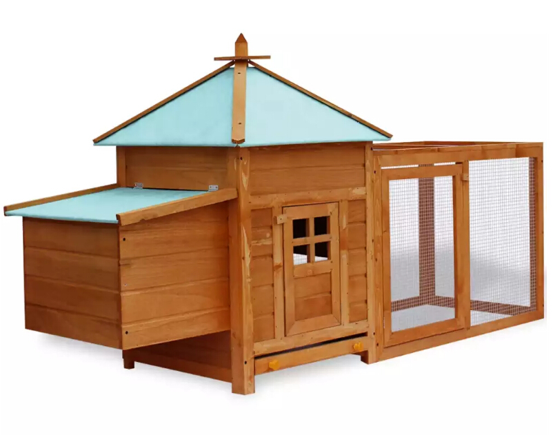 High-Quality Premium Treated Wood Deluxe Outdoor Chicken Coop For Keeping Chickens Hens Ducks
