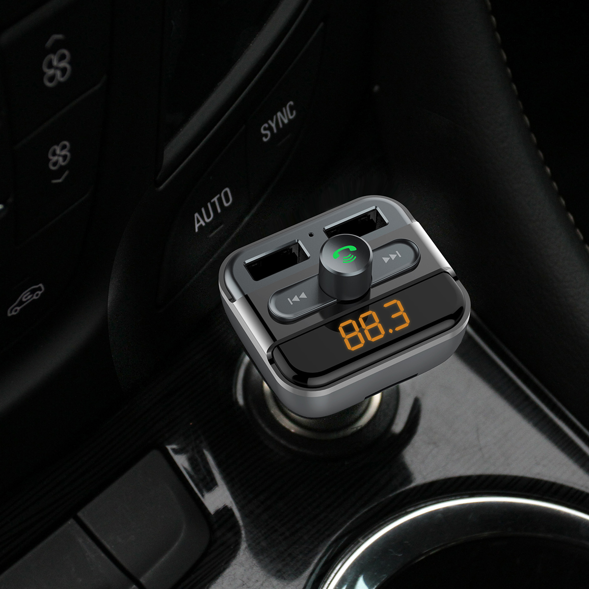 BT20 USB Car Charger For Smart Phone Bluetooth FM Transmitter Hand free Radio Adapter LED Display MP3 Player Dual USB Charger in Car Chargers from Cellphones Telecommunications