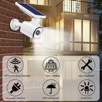 Fake Surveillance Camera Solar Powered PR Motion Sensor Wall Lights Garden Patio Waterproof Security Outdoor Lamps Lighting