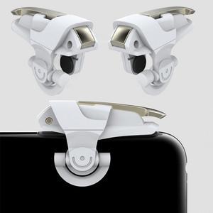 Image 3 - 1Pair Del Telefono Mobile Gaming Controller Trigger Shooter Pulsante di Fuoco Maniglia Per PUBG/Regole Di Sopravvivenza #1102