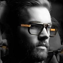 86967ee27 2018 جديد أزياء الرجال بارد مربع نمط التدرج النظارات الشمسية خمر العلامة  التجارية تصميم رخيصة نظارات شمسية Oculos دي سول