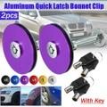 Universal 2 pcs 4 pcs Car Quick Latches Bonnet with Key Hood Lock Clip Set Engine Bonnet Flush Plus With Key Hood Pin Latch Kit