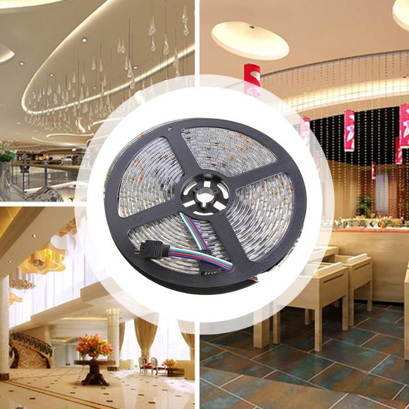 Lumière de chaîne rvb 12 V 5 m + télécommande à 44 touches + adaptateur secteur (prise EU)