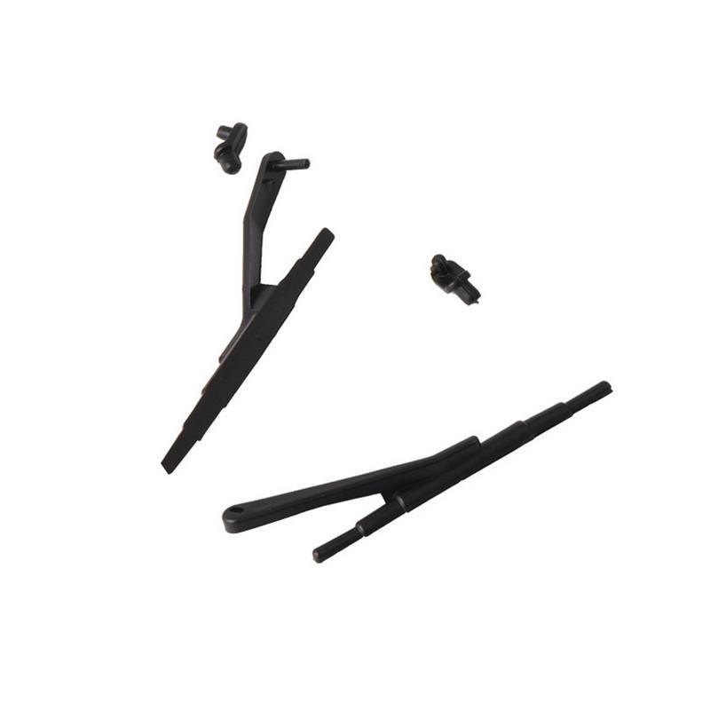 2 Pcs Plastic Black Windshield Wiper For 1 10 font b RC b font Tracked Vehicle