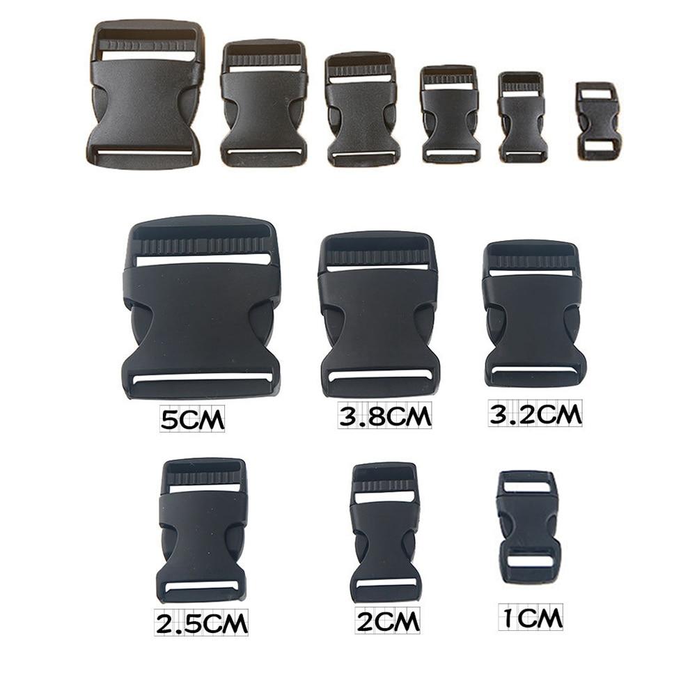 Plastic Hardware Dual Adjustable Side Release Buckles Molle Tatical Backpack Belt Bag Parts Strap Webbing
