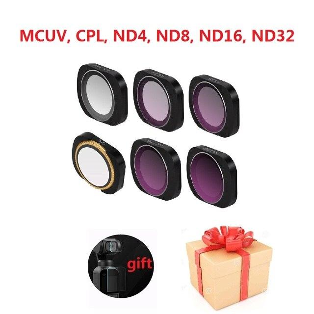 OSMO Pocket 2 카메라 필터 MCUV CPL ND 8 4 16 32 64 ND PL DJI Osmo 포켓 유리 렌즈 용 밀도 필터 세트