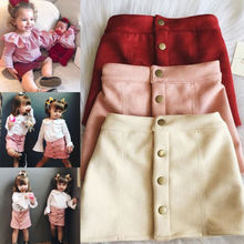 Fashion Cute Infant Baby Girl Button A Line Mini  Skirts Button Party Slim  Princess Pageant Skirt fashion cute infant baby girl button a line mini skirts button party slim princess pageant skirt