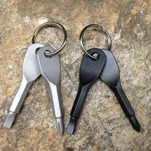 Portable Phillips Slotted Screwdriver Key Ring keyring Hike Outdoor Multi Mini Pocket Repair Tool Gadget Camp cheap Tegoni CN(Origin) Screwdriver Set
