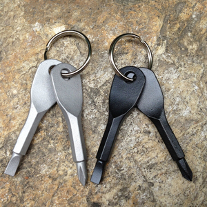 Portable Phillips Slotted Screwdriver Key Ring keyring Hike Outdoor Multi Mini Pocket Repair Tool Gadget Camp