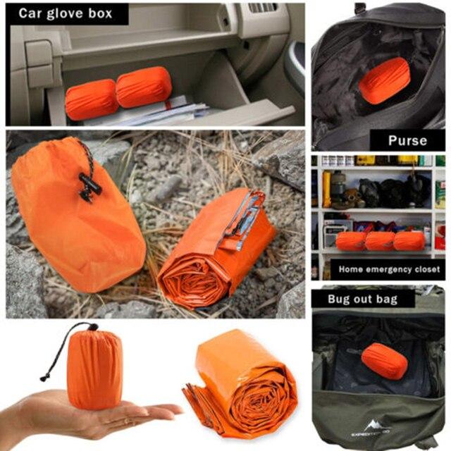 2 pcs Outdoor Emergency Sleeping Bag 8