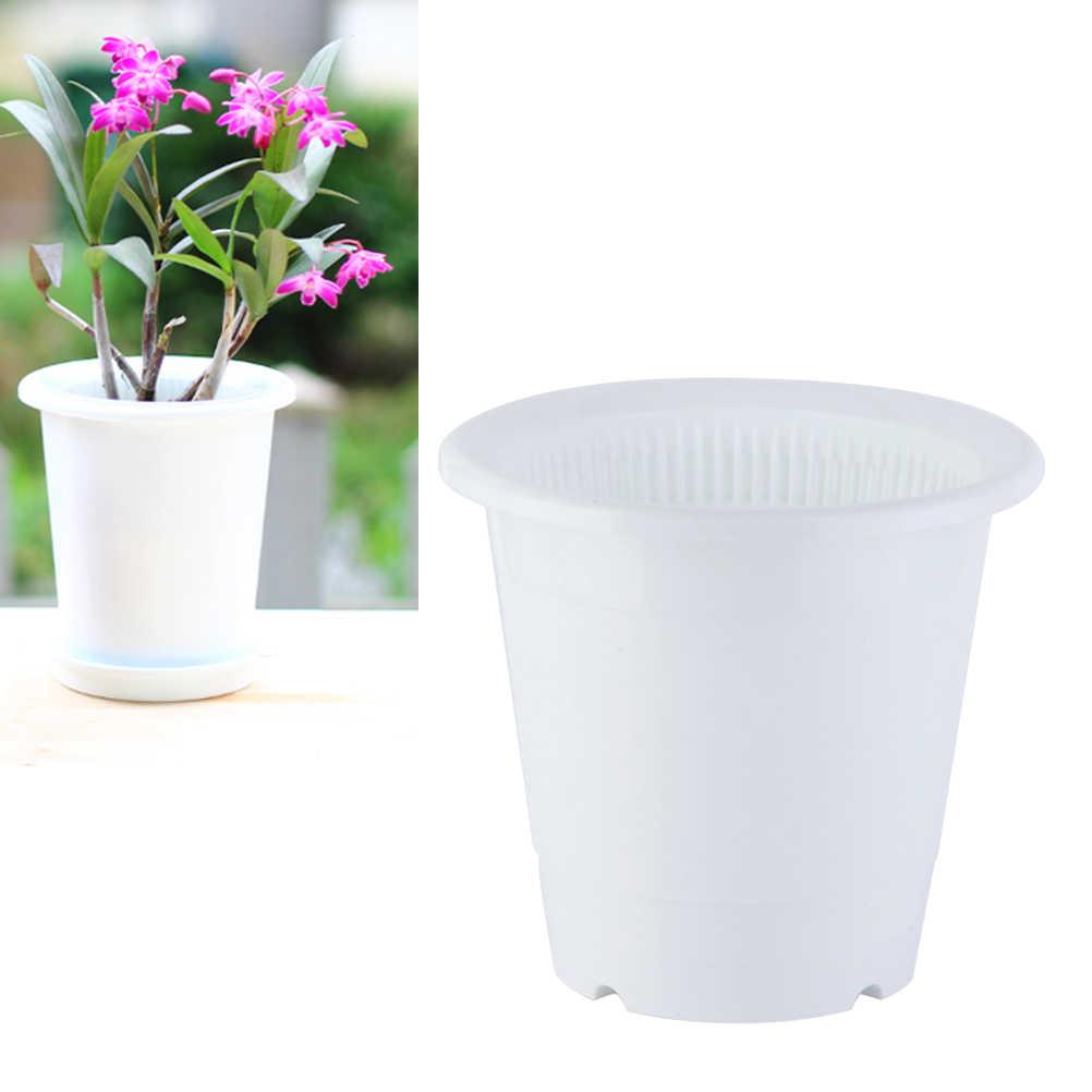 2 PCS Controle Raiz Vaso De Porcelana Imitação Resina Criativo Plantas Suculentas Flor Respirável Dupla Bacia de Plástico Titular