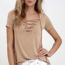 Модный повседневный Женский пуловер, футболка, новинка, женский короткий рукав, хлопок, сексуальный однотонный топ, рубашка, 6 цветов, доступны оптом