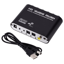 5,1 CH аудио декодер SPDIF коаксиальный RCA DTS AC3 цифровой до 5,1 усилитель аналоговый конвертер для PS3, DVD плеер, Xbox
