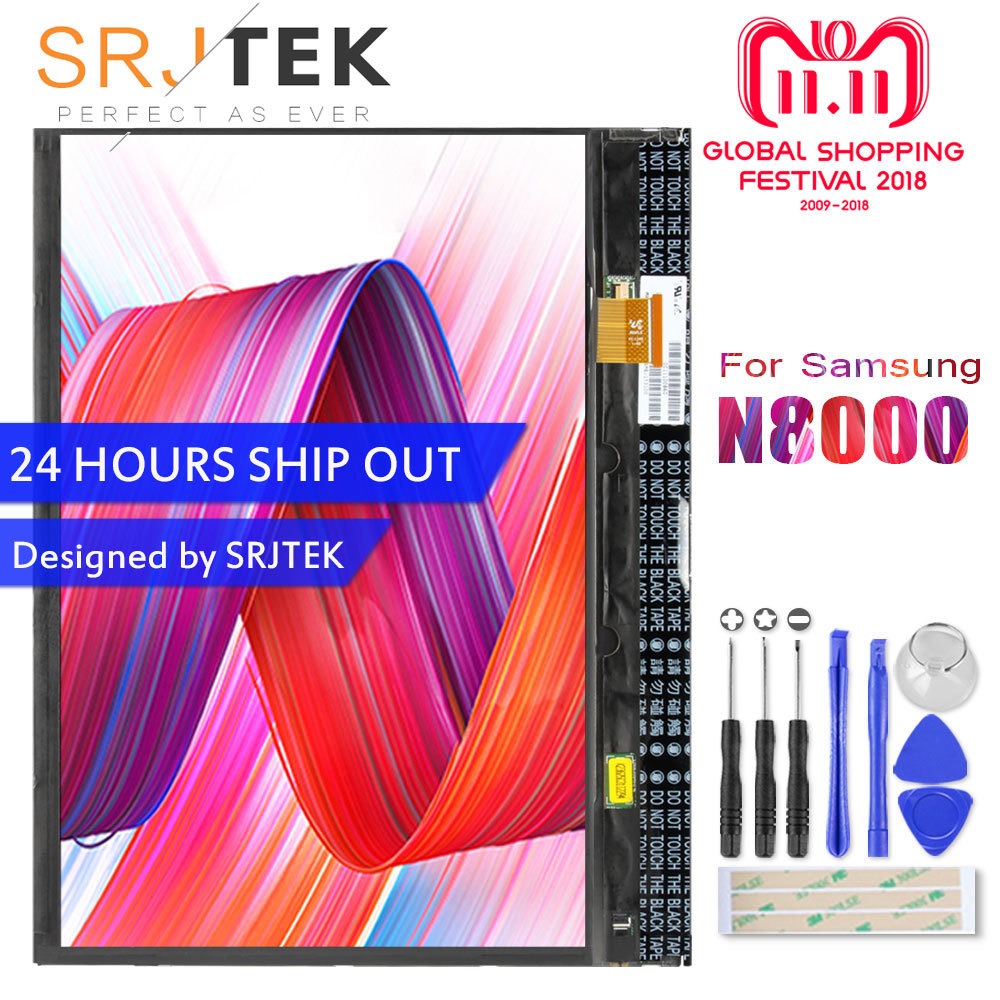 SRJTRK LCD For Samsung Galaxy Note 10.1 GT-N8000 N8000 N8010 LCD Display Matrix Screen Panel Tablet PC Replacement Parts сумка поясная dakine hip pack цвет черный 0 6 л