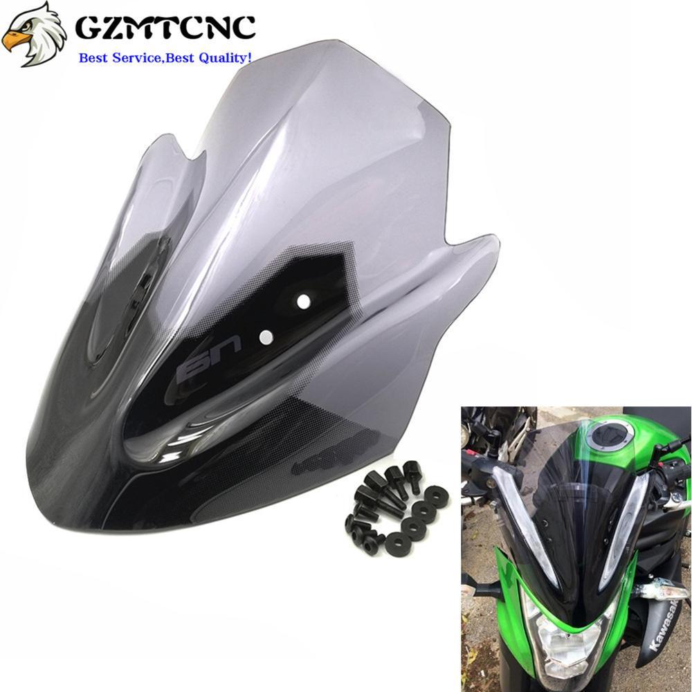 Motorcycle Windscreen Windshield Flyscreen For Kawasaki ER-6N ER6N 2012-2014 New
