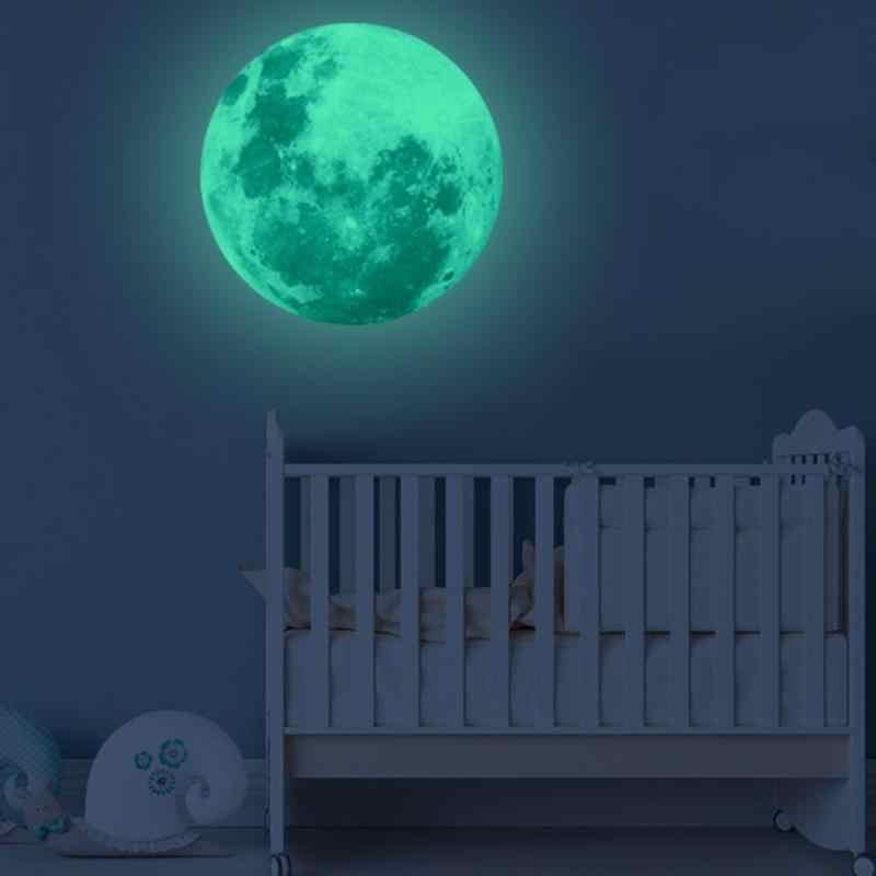 Super Helle Leucht Mond Dekoration Aufkleber Lunar Leucht Planet Wand Aufkleber Wasserdicht Aufkleber Kinder Zimmer Schlafzimmer