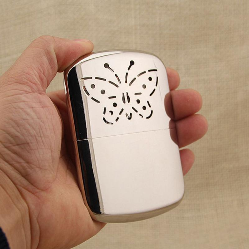Portable Butterfly Fuel Hand Warmer Reusable Zinc Alloy Pocket Handy Hand Warmers Head For Outdoor Hunting