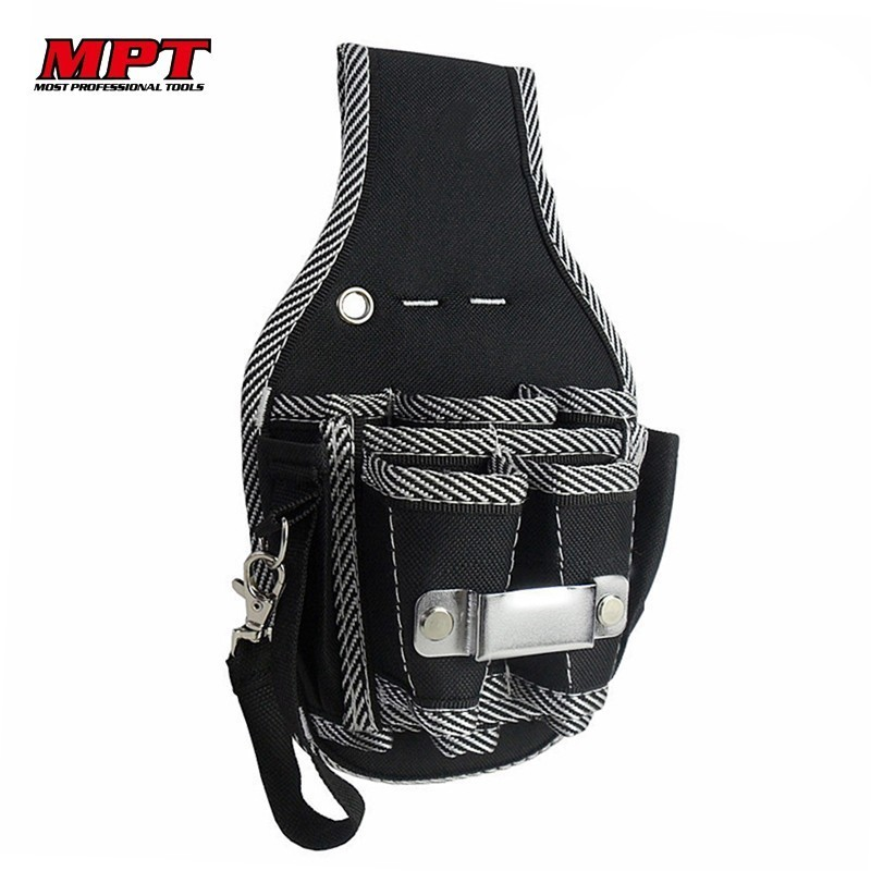 MPT Quality 600D Nylon Fabric 9 In 1 Tool Bag Screwdriver Holder Electrician Kit Pouch Waist Pocket Belt Bag Toolkit Tools