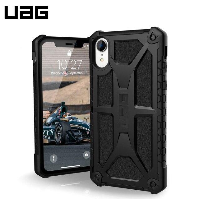 Защитный чехол UAG для iPhone XR серия Monarch цвет черный/111091114040/32/4