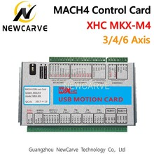 XHC Mach4 Newest Breakout Board 3 4 6 Axis USB Motion Control Card MKV-M4 2000KHz For CNC Router/ Cutting Machine NEWCARVE ic cnc grinding machine parts mould jigs board repairing chip ic cnc router parts for repair ipad 2 3 4