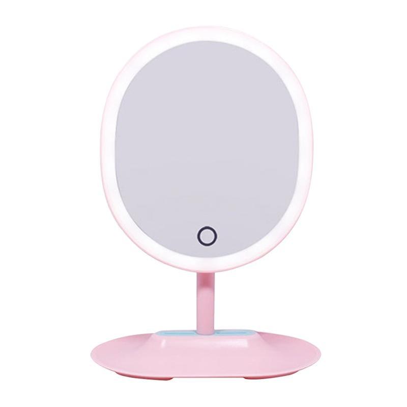 Schminkspiegel Ehrlichkeit Make-up Spiegel Led Beleuchtete Spiegel Vergrößerung Lampe Eitelkeit Spiegel Touchscreen Dimmbare Led Licht Für Arbeitsplatte Kosmetik Make-up Spiegel