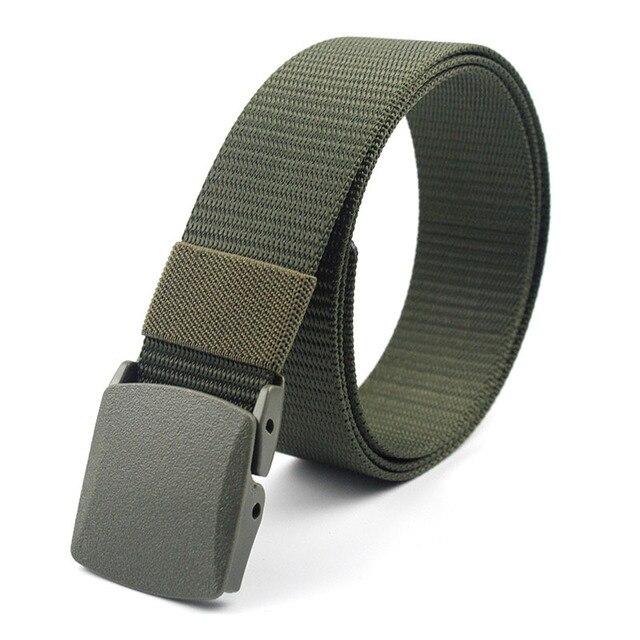Men Female Belts Military Nylon Adjustable Belt Men Outdoor Travel Tactical Waist Belt with Plastic Buckle for Pants 130cm 1