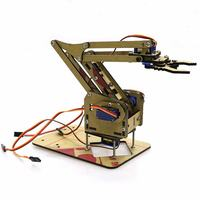 Dominbot DIY 4DOF for Arduino Acrylic RC Robot Arm Gripper Educational Kit With MG90S Servos