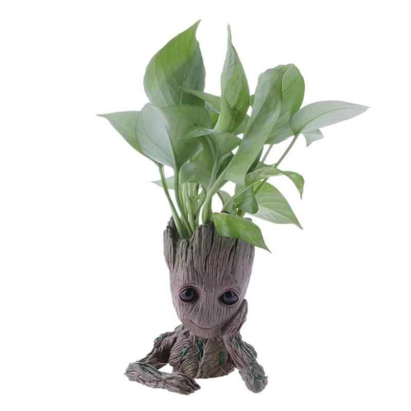 Maceta de Groot maceta de plantas y flores para bebés portalápices figuras de acción bonitas juguetes para niños regalo decoración de escritorio