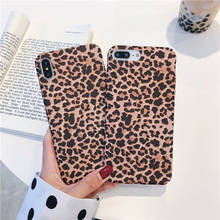 JONSNOW All-inclusive Phone Case for iPhone 7 8 Plus 6S 6 XS XR Max Leopard Pattern PC Hard Back Cover Capa Fundas