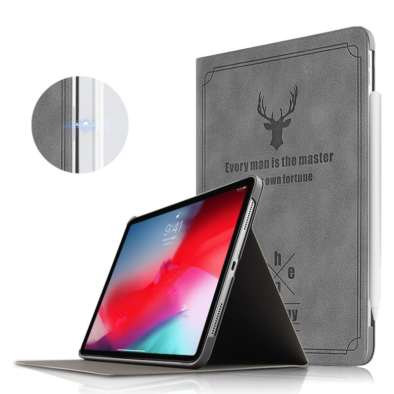 Case For iPad Pro 11 2018 Protective Cover PU Leather Smart Case For Apple new i