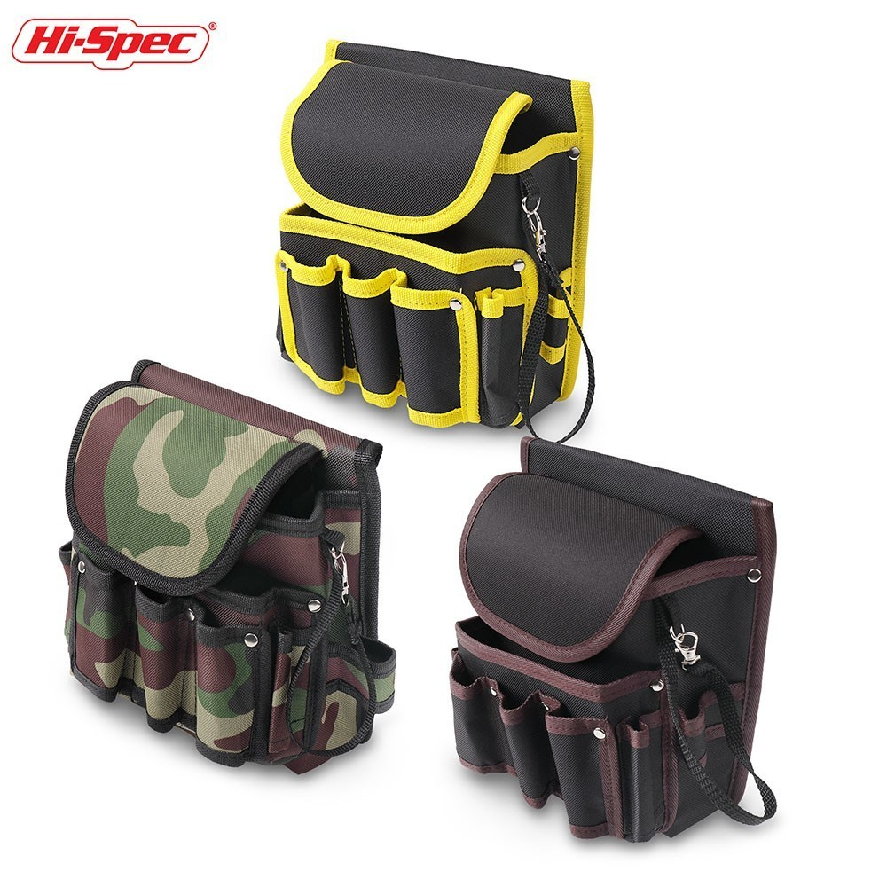 Hi-Spec Water Proof Electrician Tool Bag 600D Work Waist Bag Tool Belt DIY Nylon Canvas Storage Pouch Bag Holder Tool Organizer