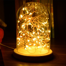 Romantic Led Night Light Copper Wire Lights Usb Charging Firework Glass Table Lamp Led String Night Light Desk Lamp icoco 3d night light magic desk table lamp with glass cover led usb innovative atmosphere lighting with romantic pattern sale
