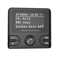 Auto Car Digital DAB/DAB+ Radio Receiver Audio Adapter Wireless FM Transmitter & Bluetooth Hands Free DAB+ Tuner Include Anten