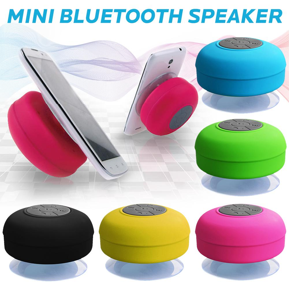Waterproof Wireless Bluetooth Speaker Bathroom Mini Fashionable Musical Instruments With Suction Cup Built-in Microphone(China)